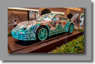 Mooie beschilderde Porche in de Shopping Mall