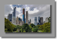 Skyline Manhattan vanuit Central Park
